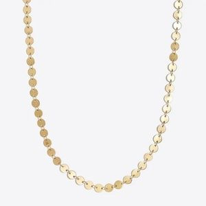 NWOT J. Crew Golden Disc Choker in Antique Gold